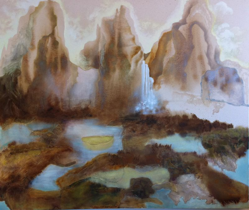Hannah Albert, mixed media on canvas, 2010, work in progress